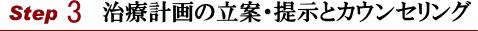 横浜山手デンタルクリニック 診療の流れStep3治療計画の立案・提示とカウンセリング